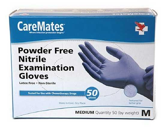 CareMates Nitrile Examination Gloves - 50 Gloves (Medium)