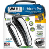 Wahl Lithium Ion Pro Men's Cordless Haircut Kit with Finishing Trimmer & Soft Storage Case - 22 Piece Set - 79600-3301