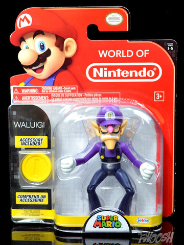 World of Nintendo Waluigi 4 Inch Collectible