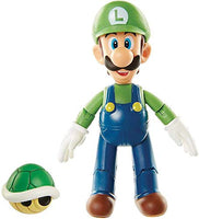 World of Nintendo Luigi with Green Koopa Shell 4 Inch Collectible Toys