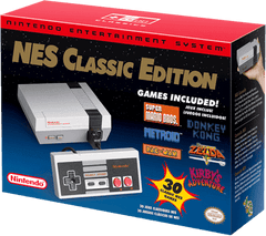 Nintendo NES Classic Edition + 30 Pre-Downloaded Games + 1 NES Classic Controller  (Ships on Re-release date June 29th)