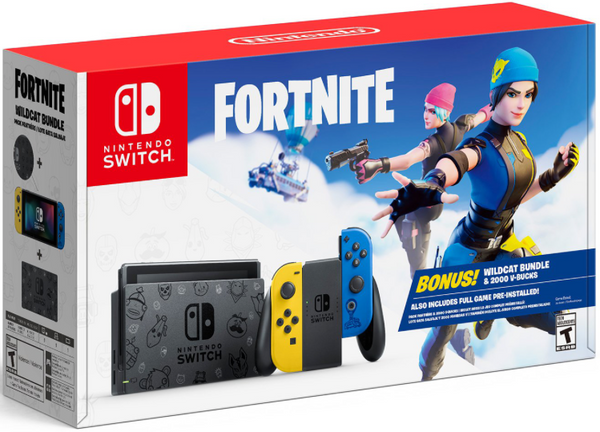 Nintendo Switch Console Fortnite Wildcat Bundle Edition