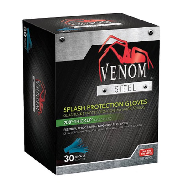 Venom Steel Disposable Gloves - 30 Latex Gloves (One Size Fits Most)