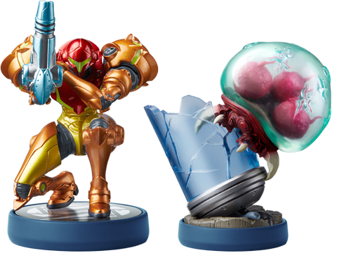 Samus Aran & Metroid Amiibo 2 Pack (Metroid: Return of Samus)
