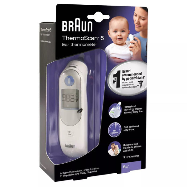 Braun ThermoScan Ear Thermometer with ExacTemp Technology (IRT6500)