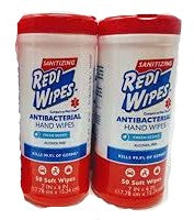 Sanitizing Redi Wipes, Antibacterial Hand Wipes, Fresh Scent 50 Wipes (2 PACK)