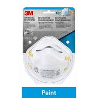 3M 8110S N95 Paint Sanding Disposable Particulate Respirators, White - 2 Masks(Small)