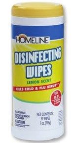Home Line Disinfecting Wipes, Lemon Scent - 35 Wipes