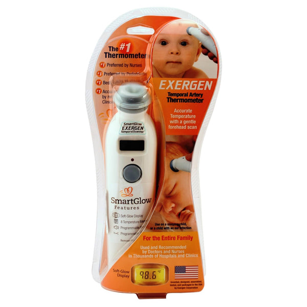 Exergen Temporal Scanner Digital Thermometer with Smart Glow Features (TAT - 2000C)