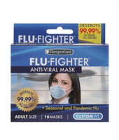 RespoKare, Flu-Fighter Anti-Viral Mask (10 Masks)