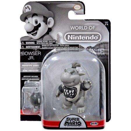 World of Nintendo Bowser Jr. Prototype Gray Color 4 Inch Collectible