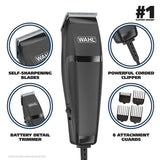 Wahl HomeCut Combo Easy-To-Use Haircutting & Touch-Up Kit - 14 Pieces -79450