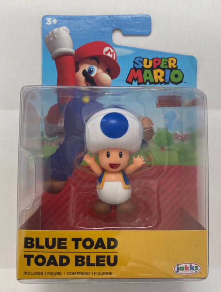 World Of Nintendo Super Mario, Blue Toad, 2.5 inch Figure