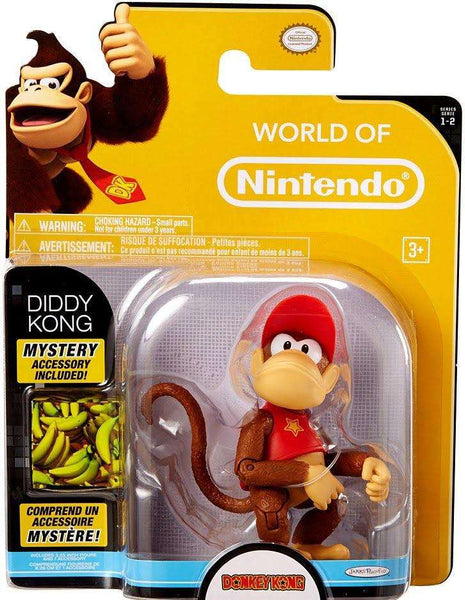 World of Nintendo Diddy Kong 4 Inch Collectible