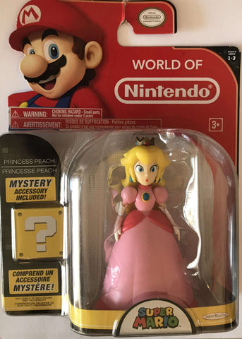World of Nintendo Princess Peach 4 Inch with Mystery Accessory