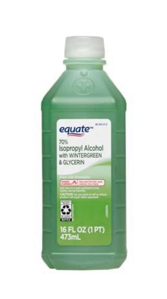 Equate, 70% Isopropyl Alcohol with Wintergreen & Glycerin - 16 fl oz