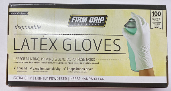 Firm Grip Pro Paint, Latex Gloves - 100 Gloves (one size fits most)