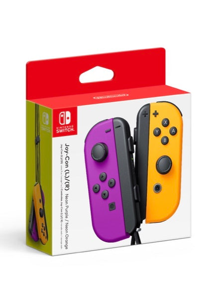 Nintendo Switch Joy-Con Controllers (Neon Purple and Neon Orange)