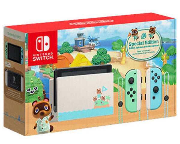 Nintendo Switch Console,  Animal Crossing: New Horizons Special Edition Console and Joy-con Controllers