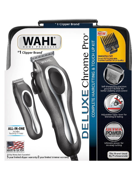 Wahl Deluxe Chrome Pro Clipper and Trimmer Kit 25 Pieces - 79650-1301