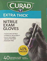 Curad, Nitrile Exam Gloves - 40 Gloves (one size fits most)