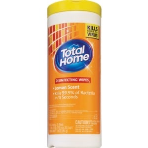 Total Home, Disinfecting Wipes Lemon Scent - 35 Wipes