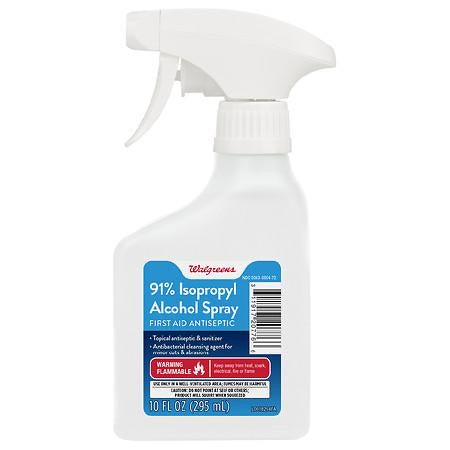 Walgreens, Isopropyl Alcohol 91% Sprayer 10.0oz