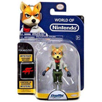 World of Nintendo Fox McCloud 4 Inch Plus Arkwing Accessory