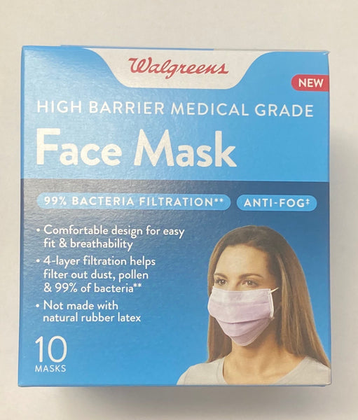 Walgreens, High Barrier Medical Grade FaceMask - 10 Masks