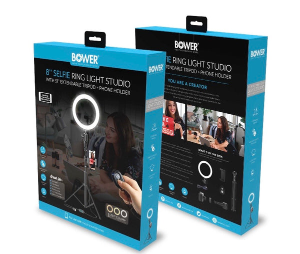 "Bower 8"" Selfie Ring Studio Light"