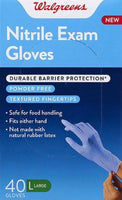 Walgreens, Nitrile Exam Glove - 40 Gloves (Large)