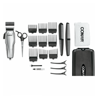 Conair Man,  CUSTOM CUT 21-PIECE CHROME HAIRCUT KIT WITH CASE - HC209