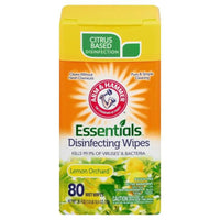 Arm & Hammer Essentials Disinfecting Wipes - Lemon Orchard Scent 80 Wipes