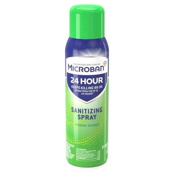 Microban 24 Hour Sanitizing Spray - Fresh Scent (15 fl oz)