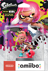 Inkling Girl Neon Pink Amiibo (Splatoon Series)