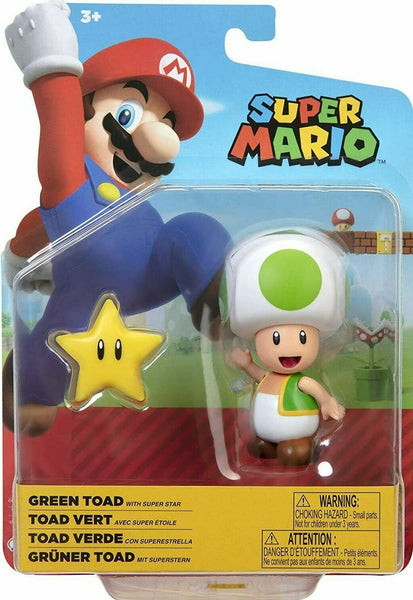 "Super Mario 4"" Figure - Green Toad With Super Star"
