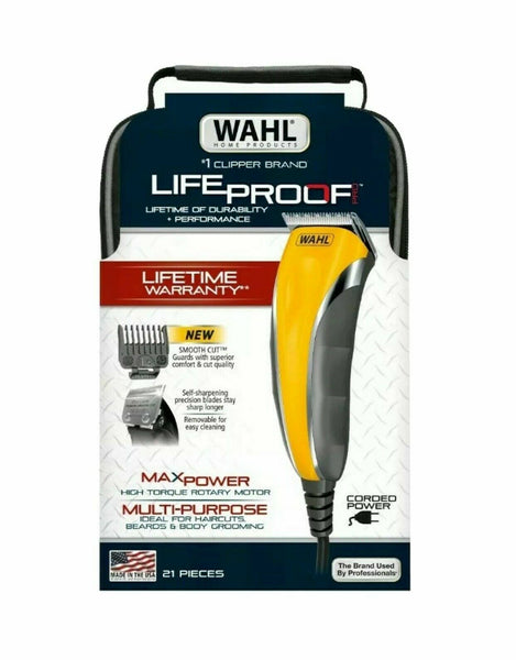 Wahl Lifeproof Comfort Grip Pro 21 Piece Kit Haircutting Clippers - 79610-600