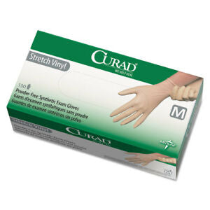 Curad Stretch Vinyl, Medium, 150 Count