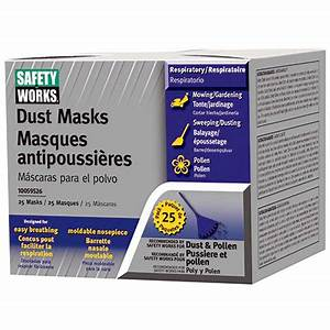 Safety Works Face Dust Mask - 25 Count
