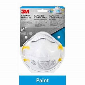 3M Performance Respirator Face Mask N95 - 3 Masks (Paint Prep) 8210