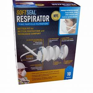 Soft Seal Face Mask Respirator Valve N95 - 10 Masks(XL)