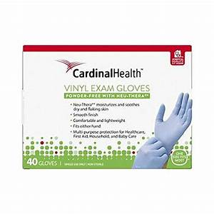 Cardinal Health, Vinyl Exam Gloves - 40 Gloves (One Size Fits Most)