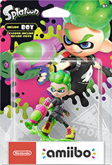 Inkling Boy Amiibo Neon Green (Splatoon Series)