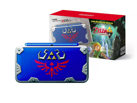 New Nintendo 2DS XL Hylian Shield Edition with Legend of Zelda: A Link Between Worlds