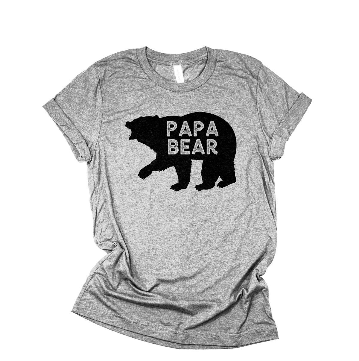 5ab7e5c4 Papa Bear Shirt, Gift For Dad, New Dad, Dad To Be T-
