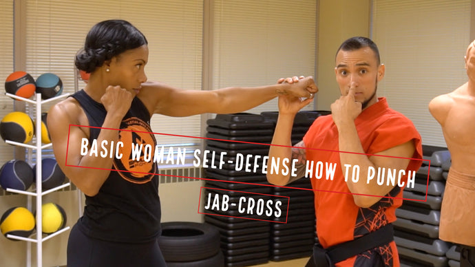 Basic Woman Self-defense How to punch jab-cross