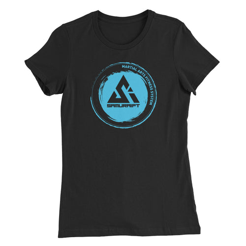 Slim Fit Classic Aqua Circle Logo SamuraiFT T-shirt