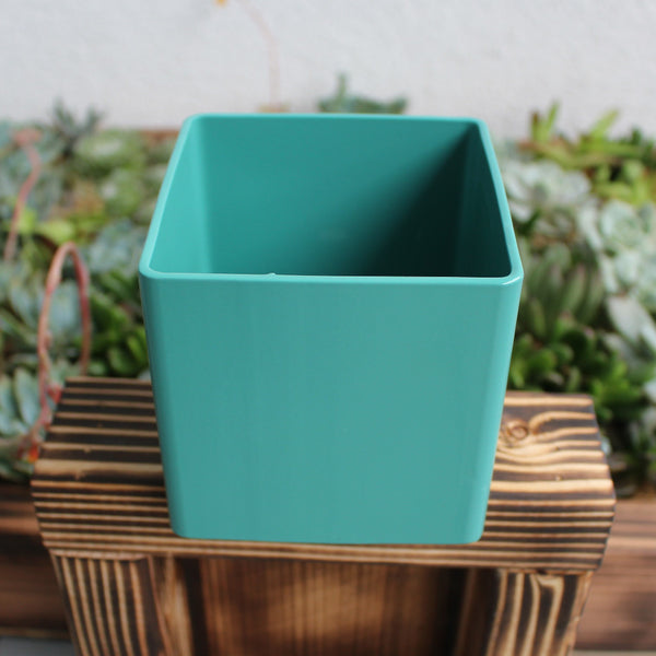 Turquoise Metal Planter Box