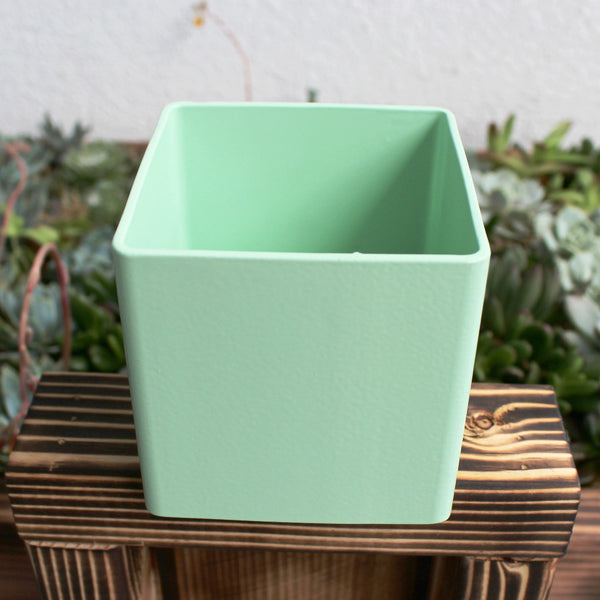 Mint Metal Planter Box