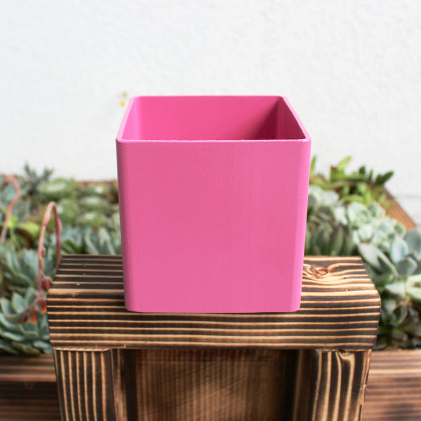 Teri's Pink Metal Planter Box
